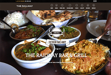 The Railway Bar and Grill - Website by Big Clould Creative Web Design in Stratford upon Avon