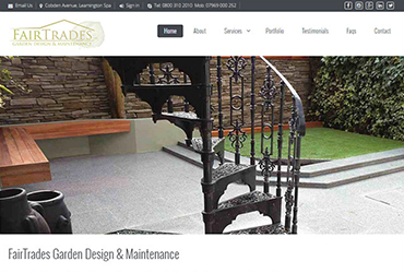 FairTrades Garden Design & Landscaping - Website by Big Clould Creative Web Design in Stratford upon Avon