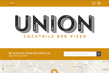Union Cocktail Bar - Website by Big Clould Creative Web Design in Stratford upon Avon