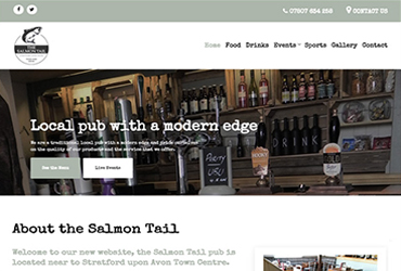 The Salmons Tail - Website by Big Clould Creative Web Design in Stratford upon Avon