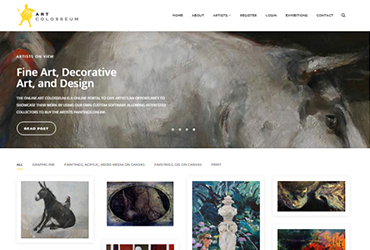 Art Colloseum - Website by Big Clould Creative Web Design in Stratford upon Avon