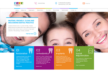 Cedarlea Dentist Care - Website by Big Clould Creative Web Design in Stratford upon Avon