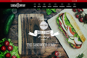 The Sandwich Company - Website by Big Clould Creative Web Design in Stratford upon Avon