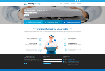 Laudry and Ironing Service - Website by Big Clould Creative Web Design in Stratford upon Avon